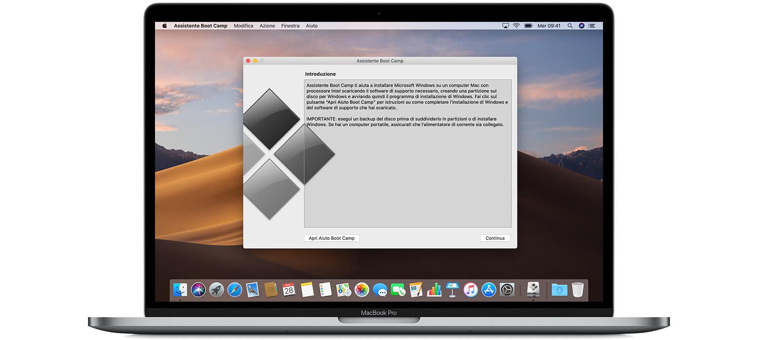 Installare BootCamp su MacOS